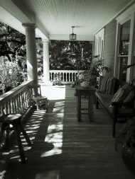 The old McKinney home's front porch - this house was stunning
